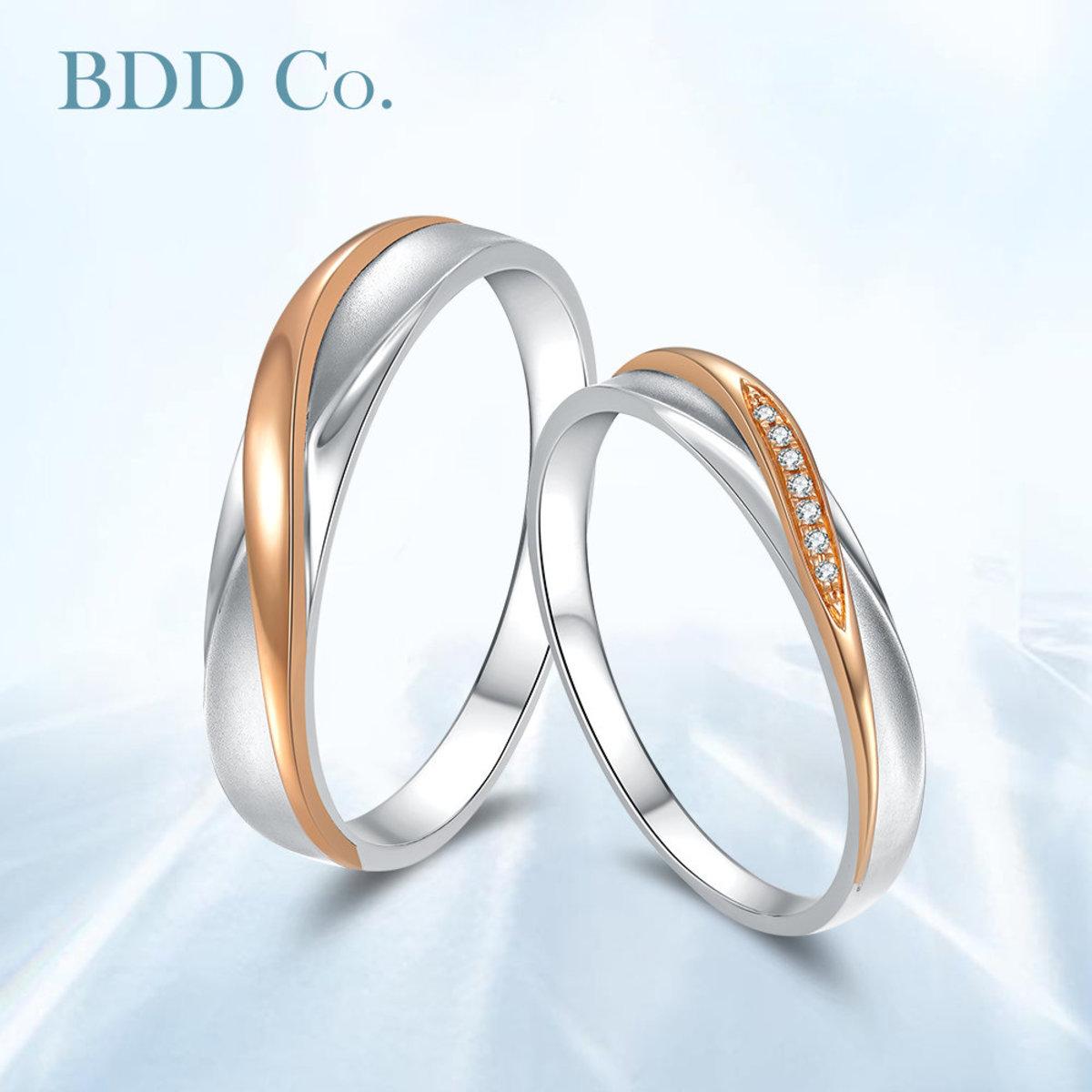 【BDD-Co.】18k鑽石情侶戒 傾城之戀 女