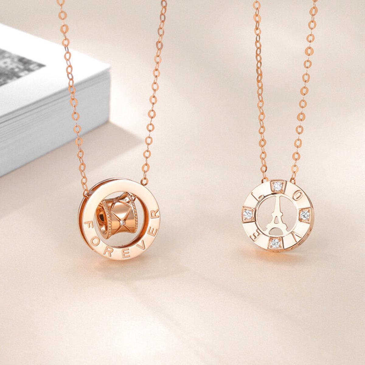 18k Rose Gold Diamond Necklace (0.068 ct. tw.)