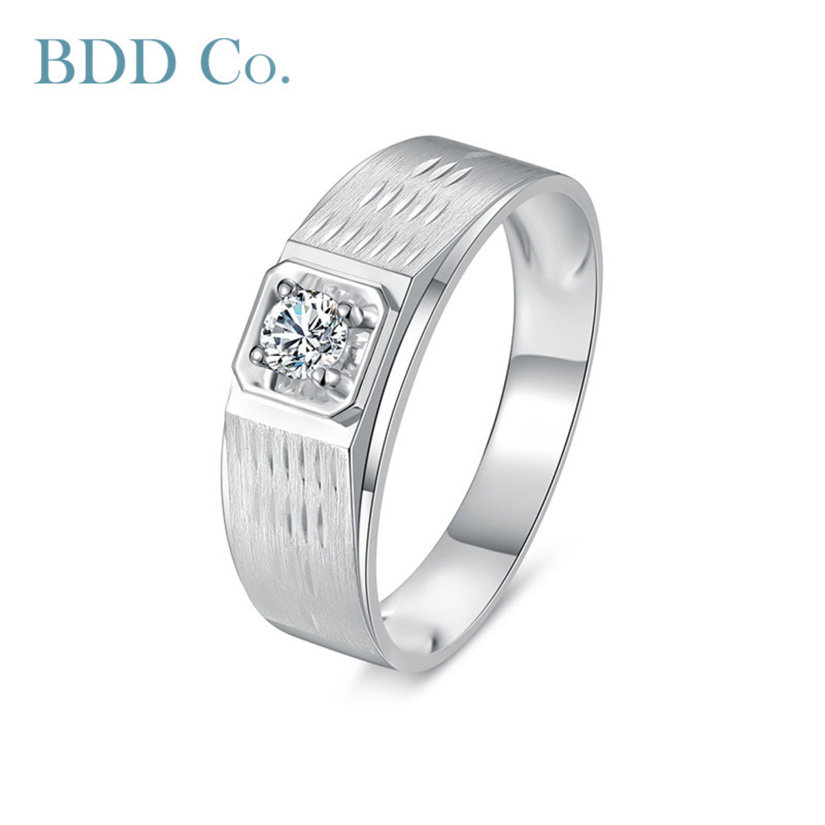 18k White Gold Luxe Wide Band Diamond Ring (0.20 ct. tw.)