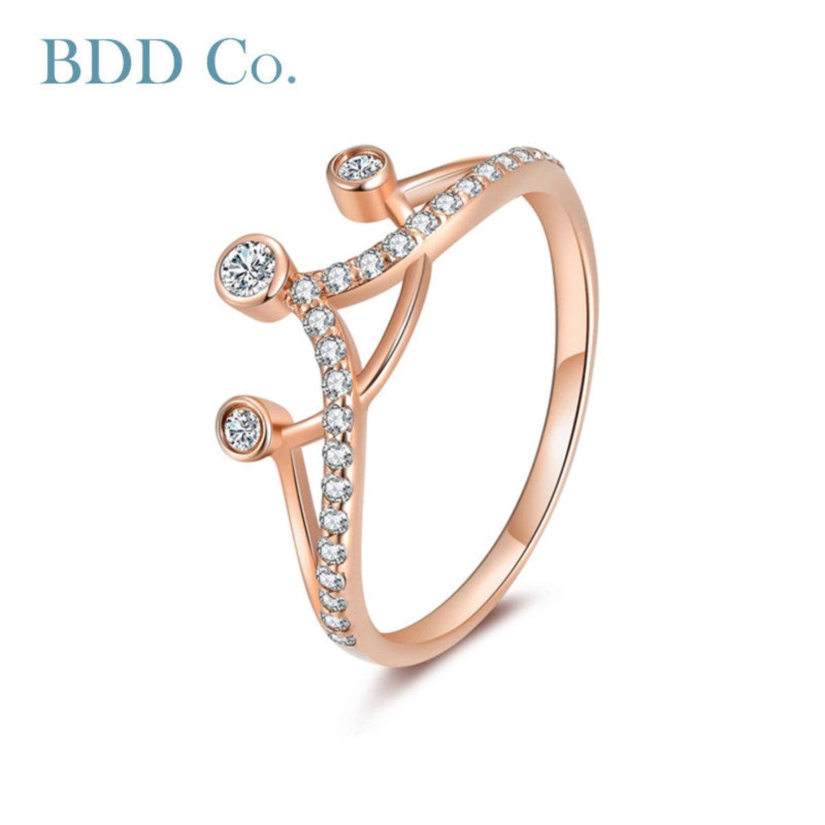 18k Rose Gold Women Ring