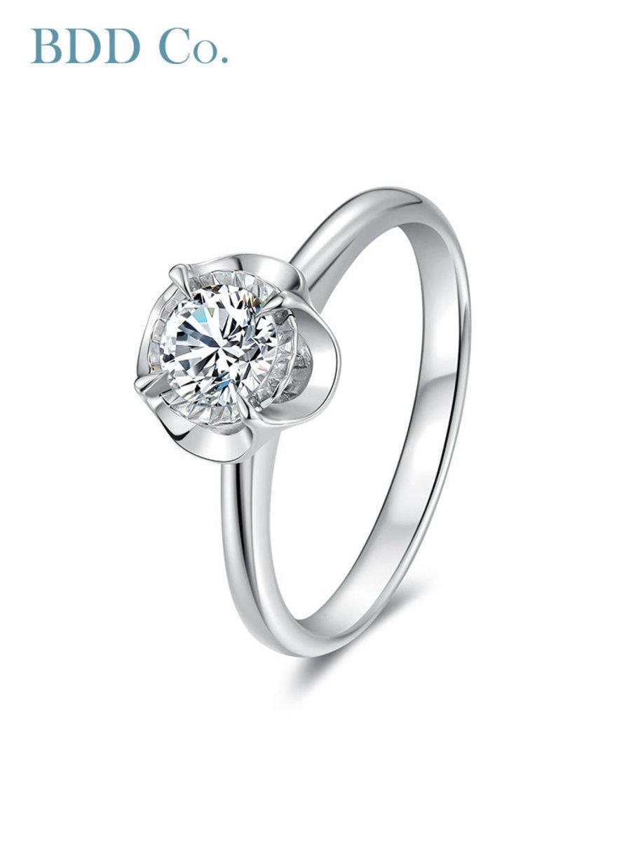 18k White Gold Petal Diamond Ring (0.50 ct. tw.)