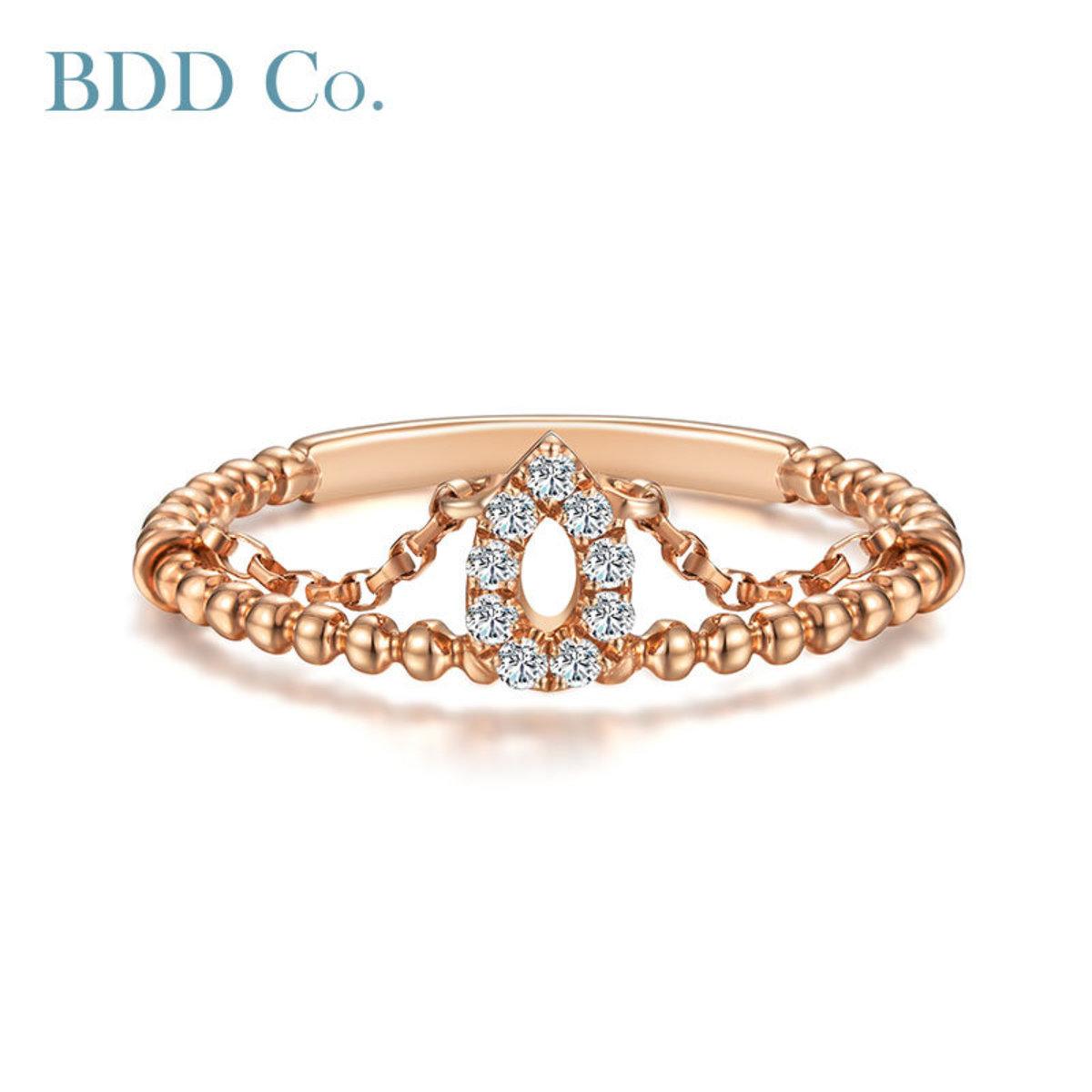【BDD-Co.】18k時尚鑽石女戒