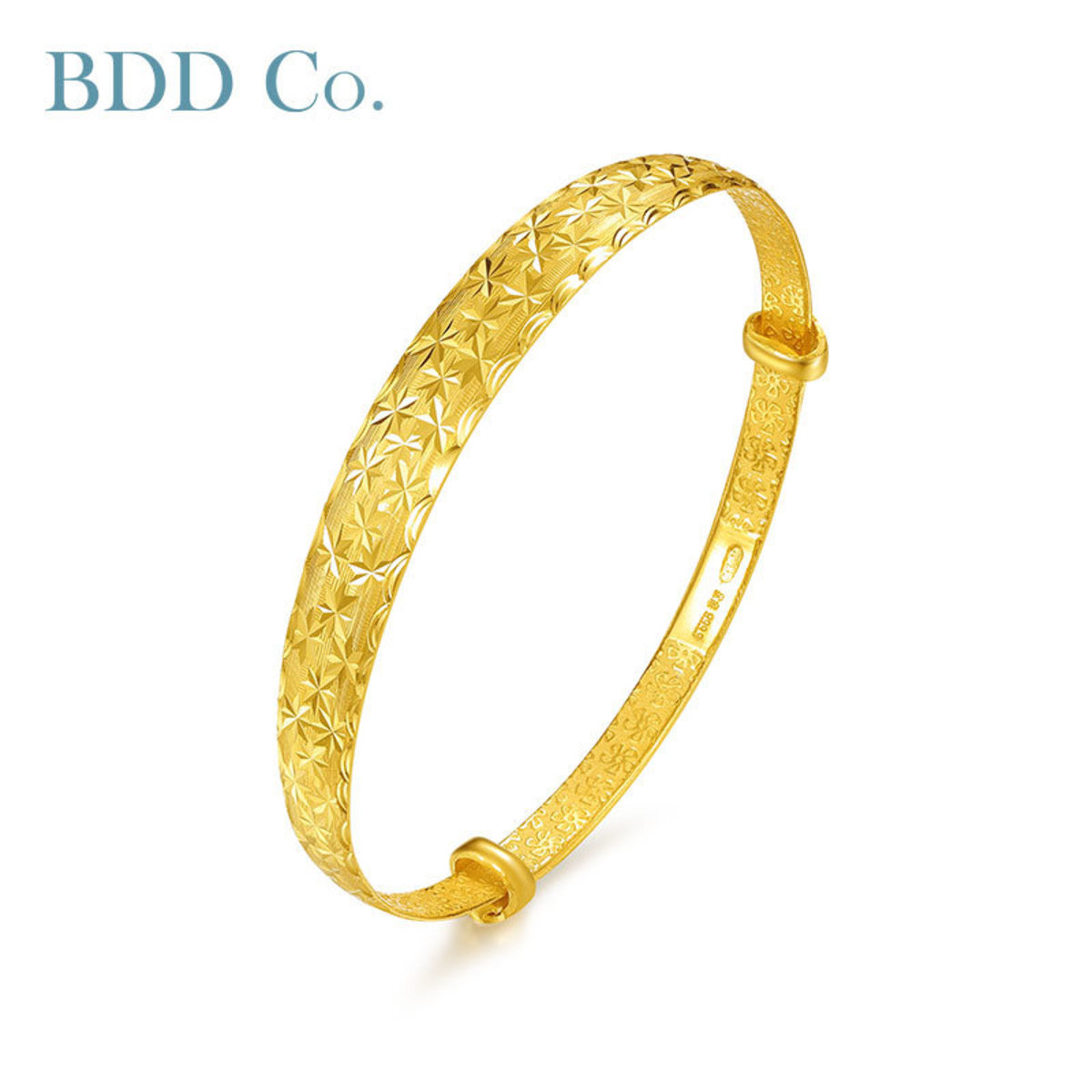 Au990 Gold Women Bangle Bracelet