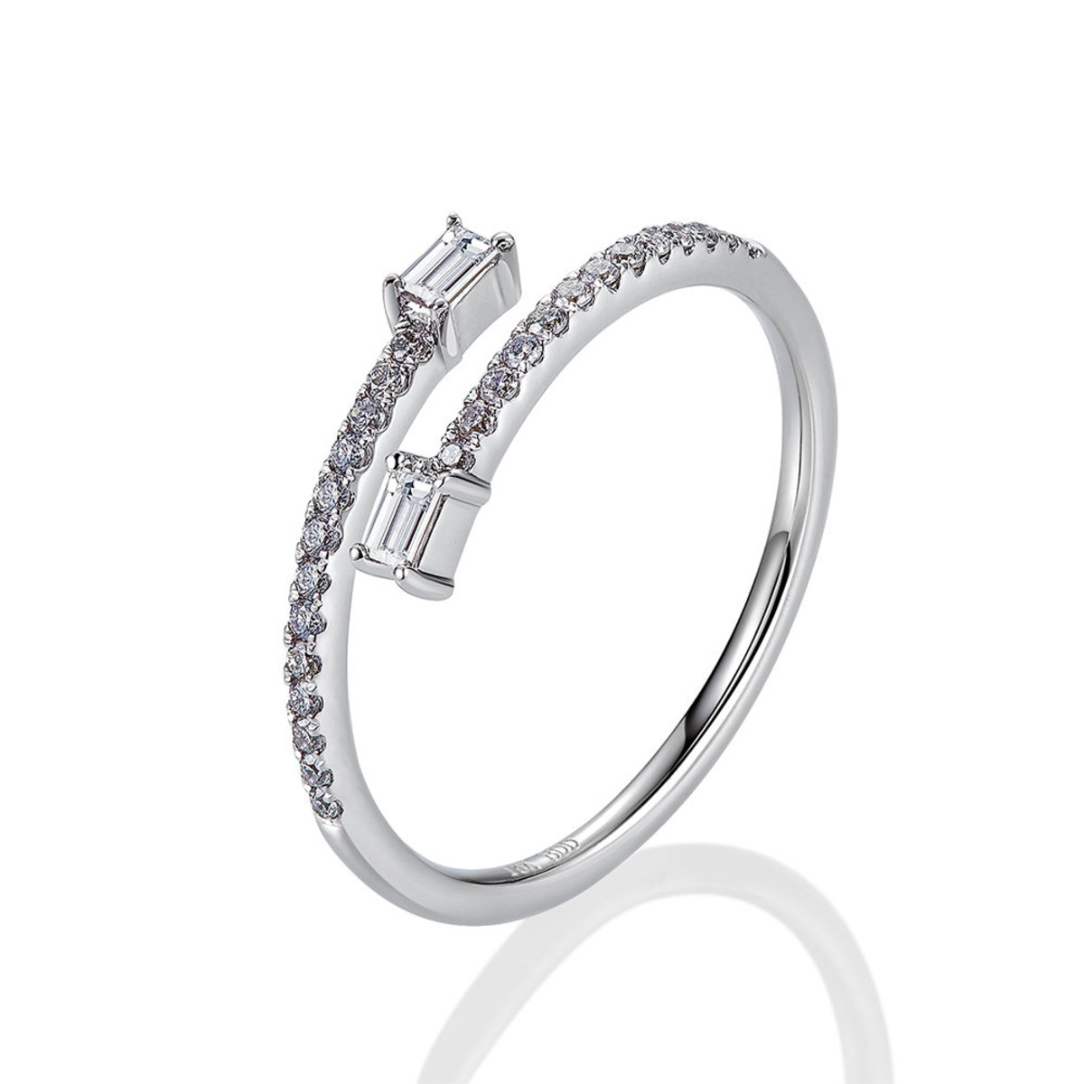 18K White Gold Linear Wrap Diamond Ring (0.23 ct. tw.)
