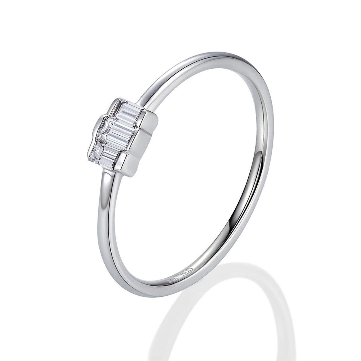 18K White Gold Diamond Ring (0.16 ct. tw.)