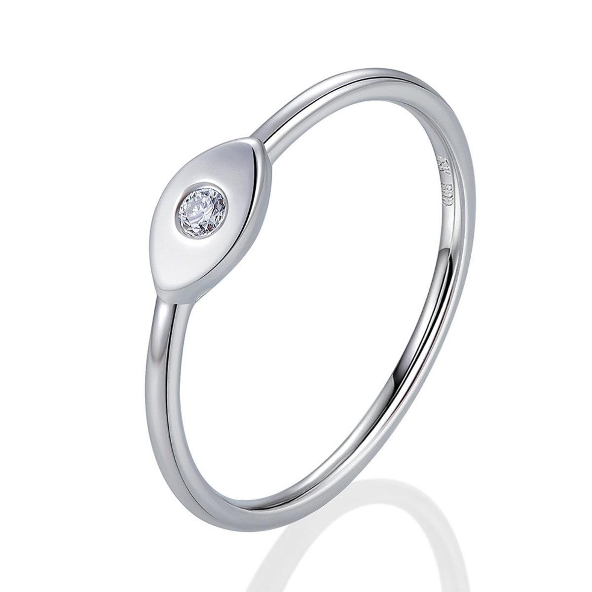 18K白金鑽石戒指(0.03克拉總重量)