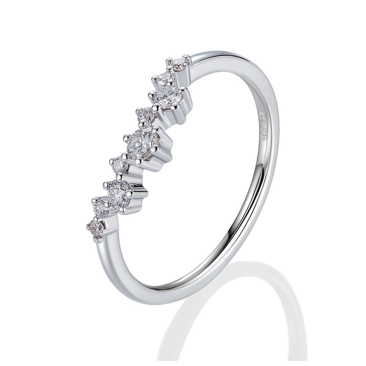 18K White Gold Diamond Ring (0.19 ct. tw.)