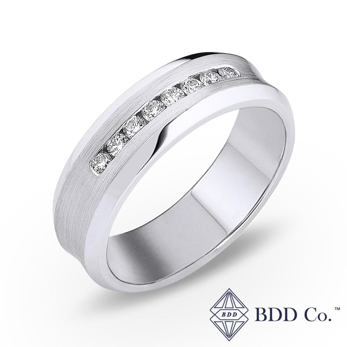 14k White Gold Diamond Channel-Set Wedding Ring (0.277 ct. tw.)