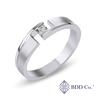 Platinum PT950 Modern Matte Diamond Wedding Ring (0.131 ct. tw.)