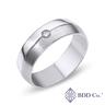 18k White Gold Single Rail Comfort Fit Diamond Wedding Ring (0.069 ct. tw.)