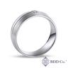 18k 白金單軌內圈卜身設計鑽石結婚戒指(0.069 克拉總重量)