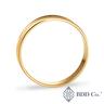 18k Yellow Gold Engraving Pattern Design Wedding Ring (5mm)
