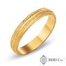 18k 黃金砂面結婚戒指 (4毫米)