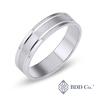 18k White gold Satin Finished Wedding Ring (5mm)