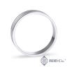 18k 白金啞光結婚戒指(5 毫米)