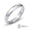 18k 白金經典內圈卜身設計結婚戒指(4 毫米)