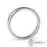 18k White Gold Comfort Fit Wedding Ring (5mm)