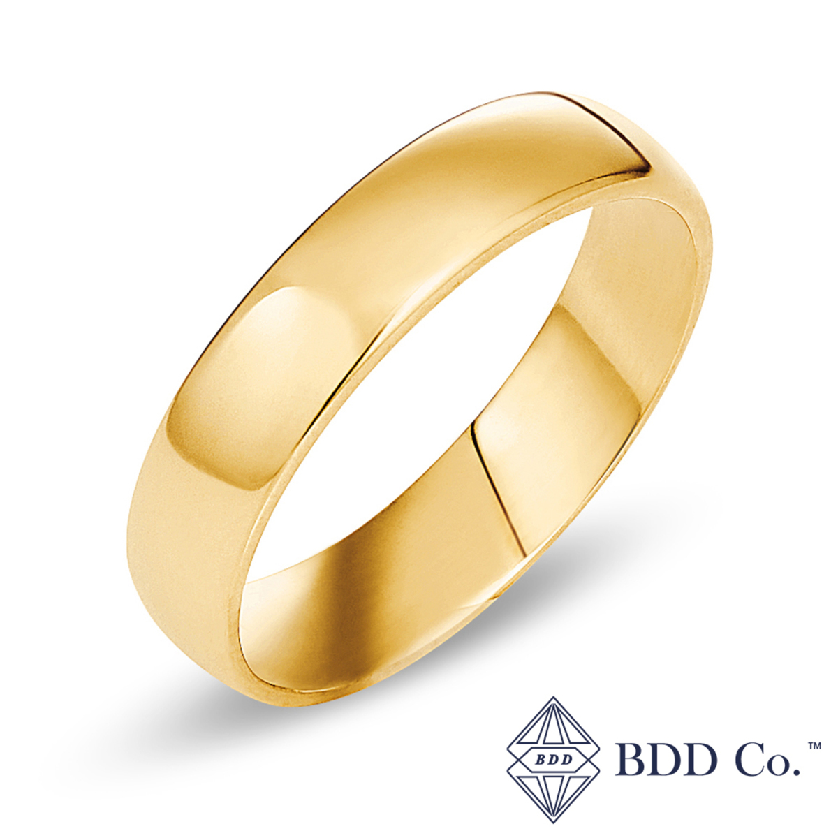 18k Yellow Gold Comfort Fit Wedding Ring (5mm)