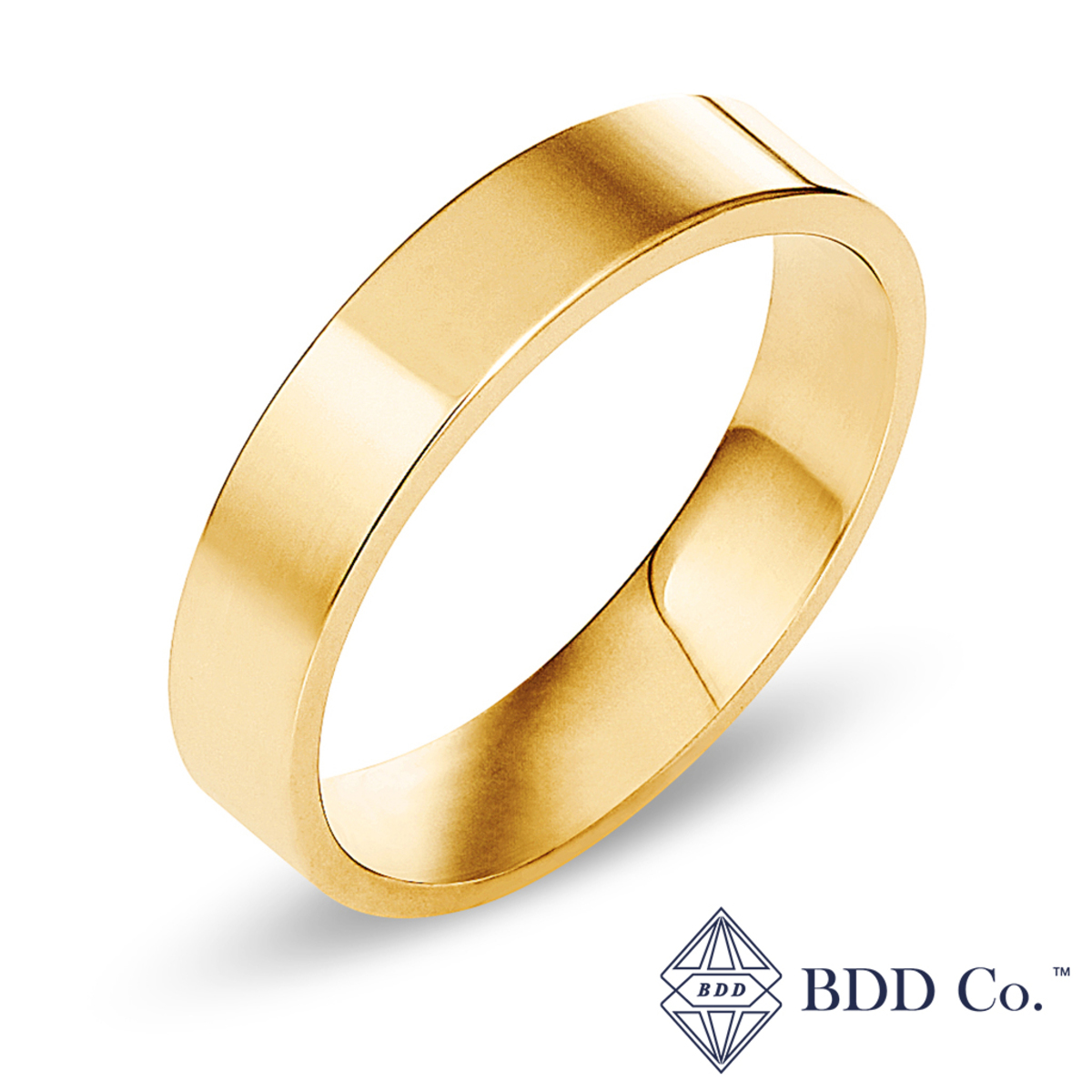 18k Yellow Gold Classic Comfort Fit Wedding Ring (5mm)