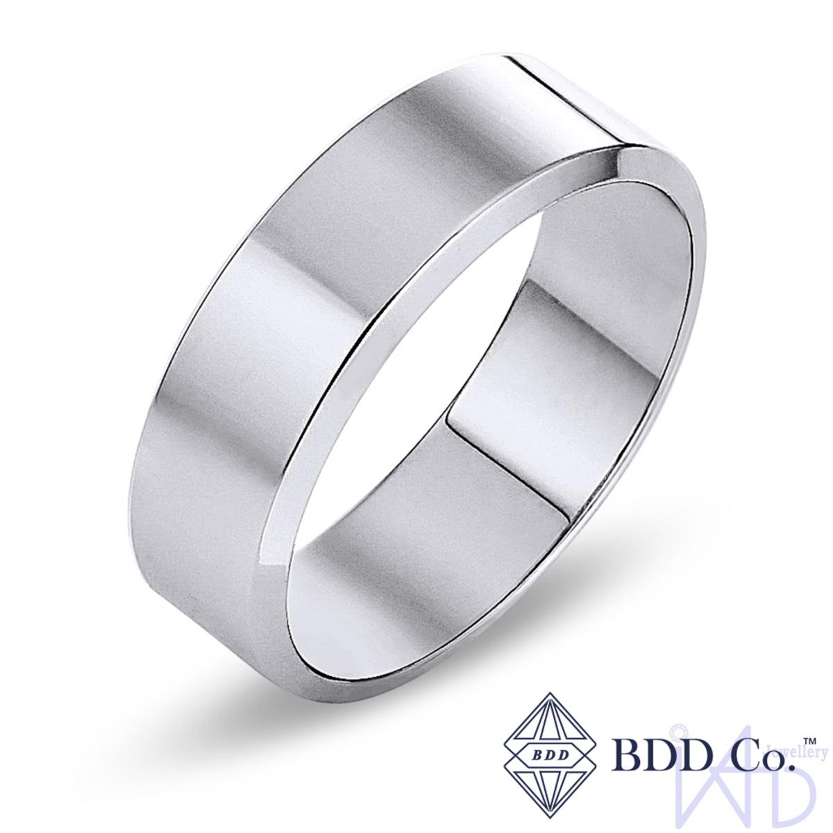 18k White Gold Classic Wedding Ring (7mm)