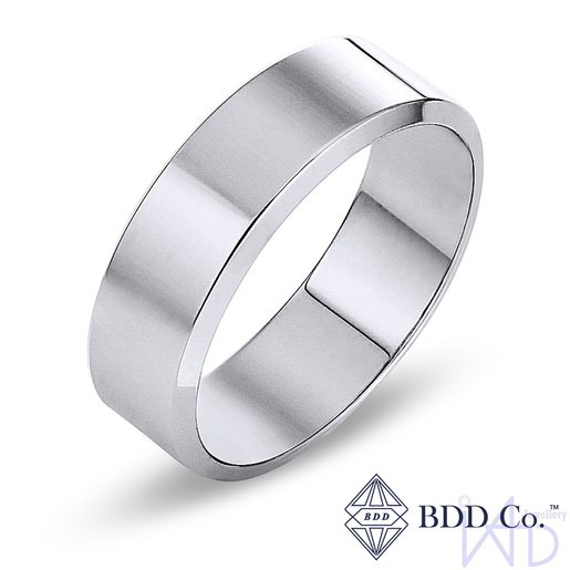 18k White Gold Classic Wedding Ring (7mm)