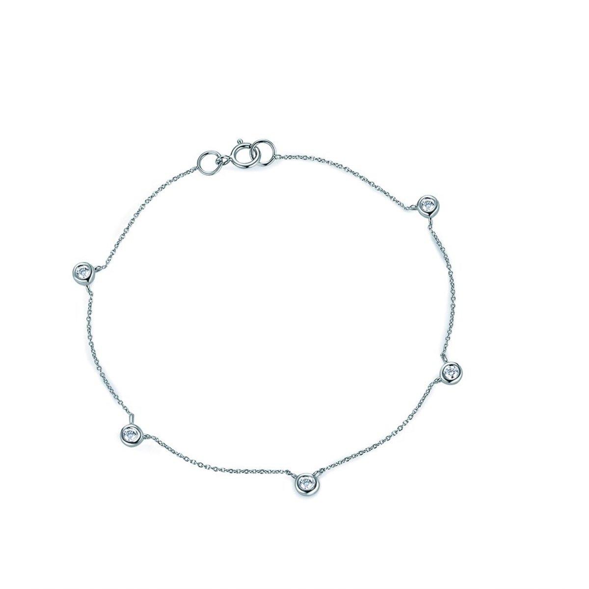 18K White Gold Bezel-Set Diamond Bracelet (0.17 ct. tw.)(165mm)