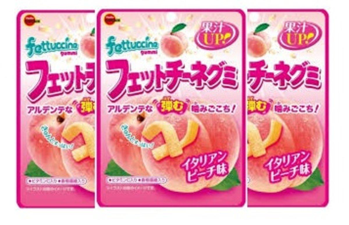 Fettuccine Gummi (Peach) 50g x3pack