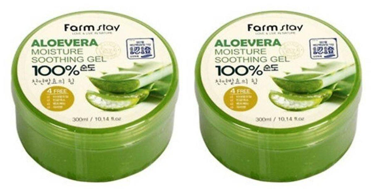 Moisture Aloe Vera 100% Soothing Gel 300ml x2