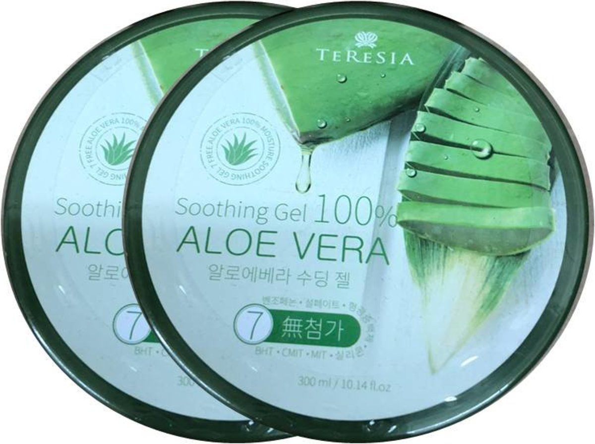 Teresia 100% Aloe Vera Soothing Gel 300ml x2