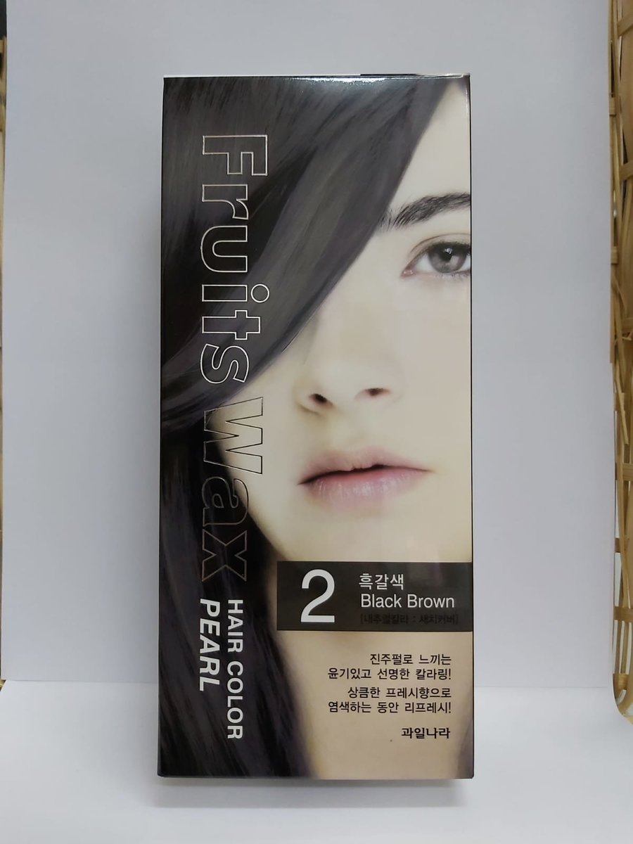 Fruit Wax Hair Color Pearl - #2 Black Brown 60g [Parallel Import]