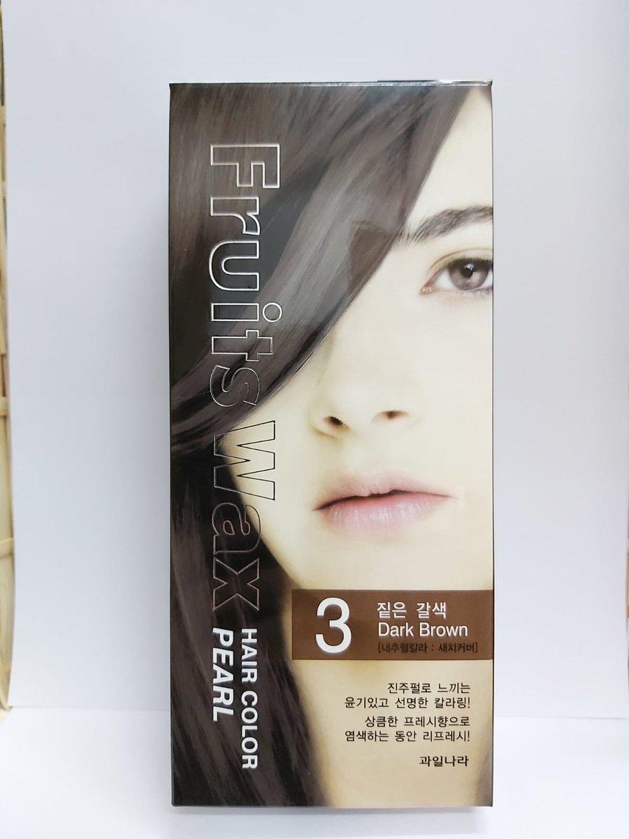 Fruit Wax Hair Color Pearl - #3 Dark Brown 60g [Parallel Import]