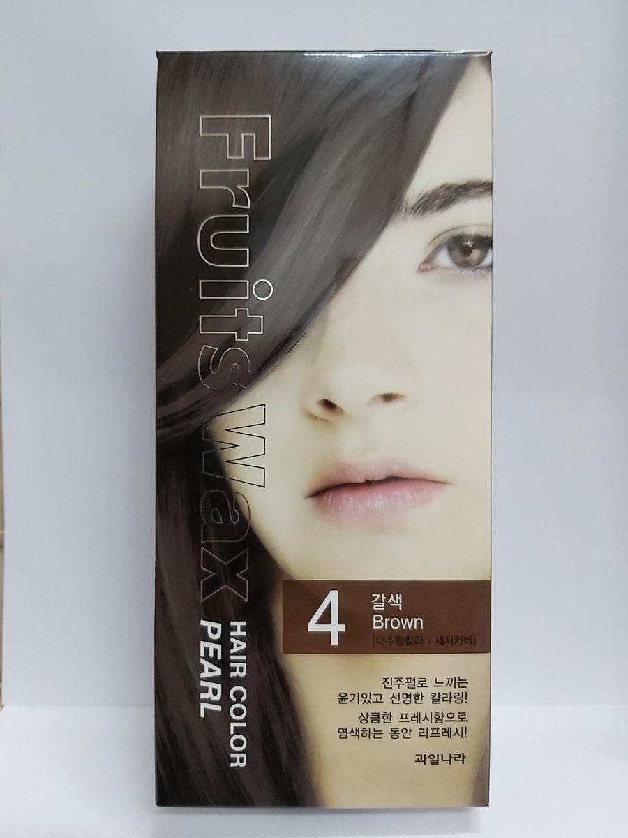 Fruit Wax Hair Color Pearl - #4 Brown 60g [Parallel Import]