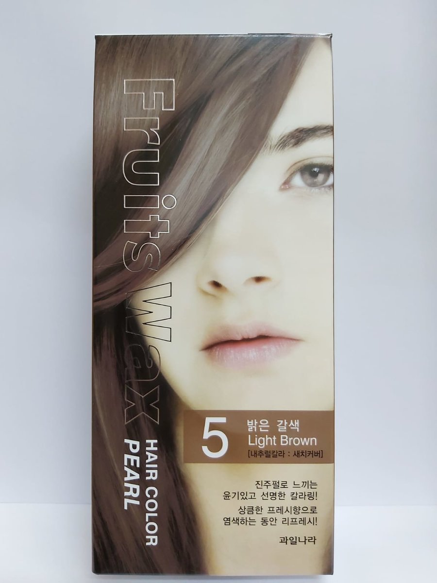 Fruit Wax Hair Color Pearl - #5 Light Brown 60g [Parallel Import]