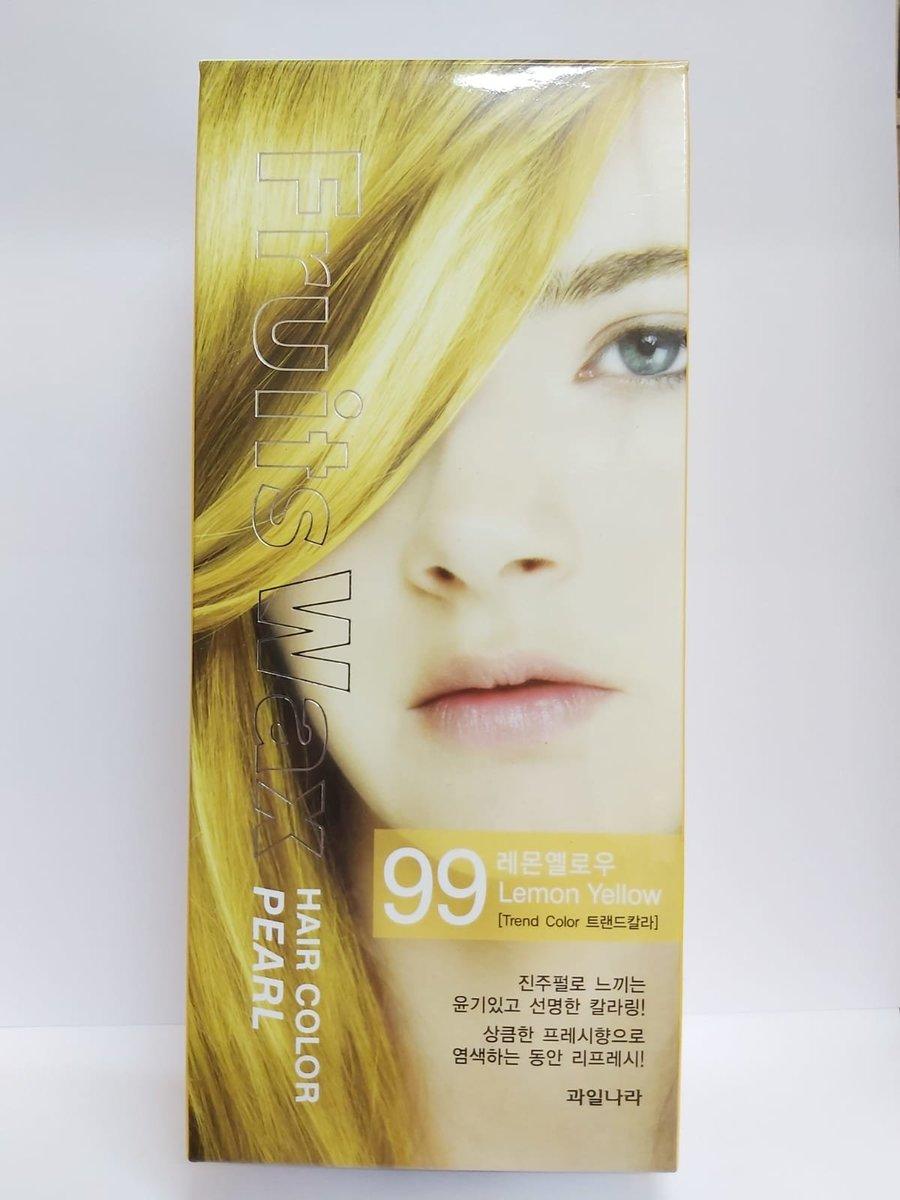Fruit Wax Hair Color Pearl - #99 Lemon Yellow 60g [Parallel Import]
