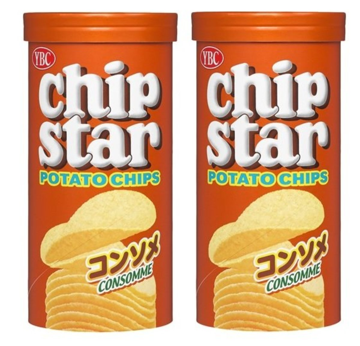 Chip Stars Consomme Potato Chips 50g x2