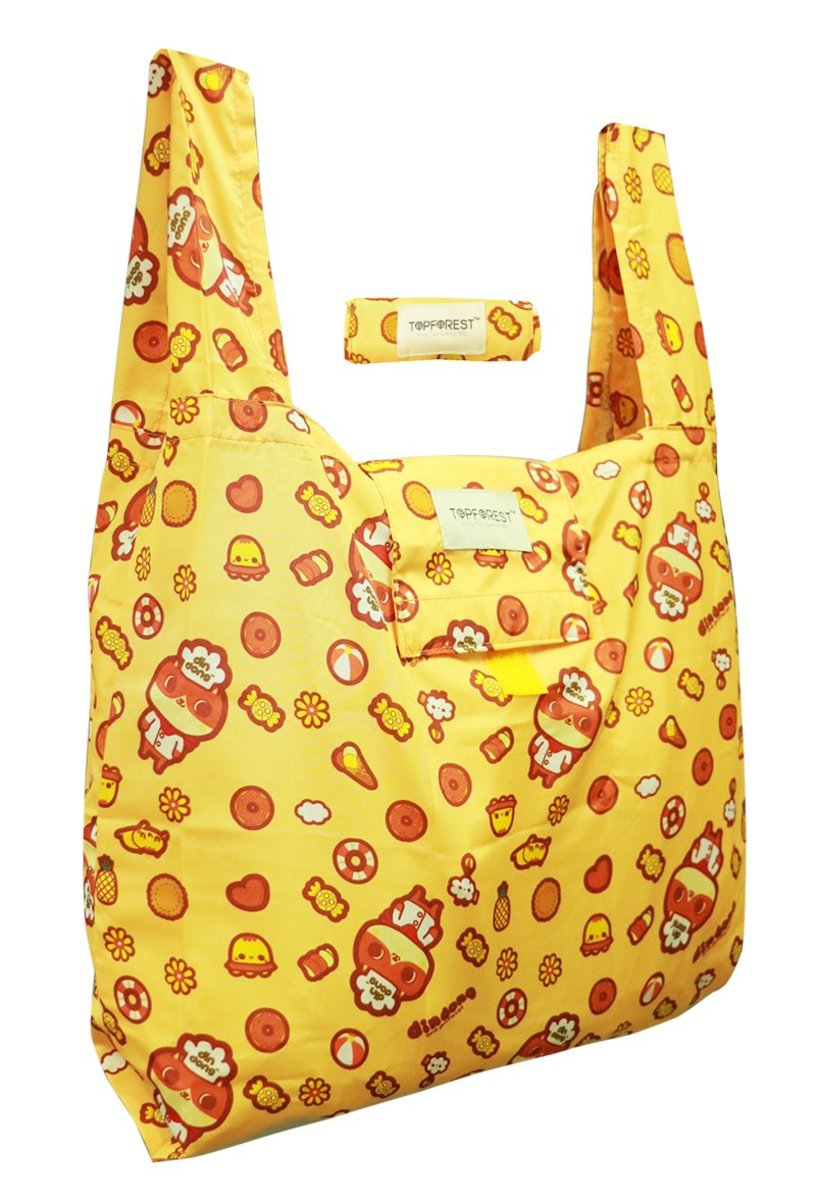 Din Dong Cute Cat Foldable Shopping Bag A09017