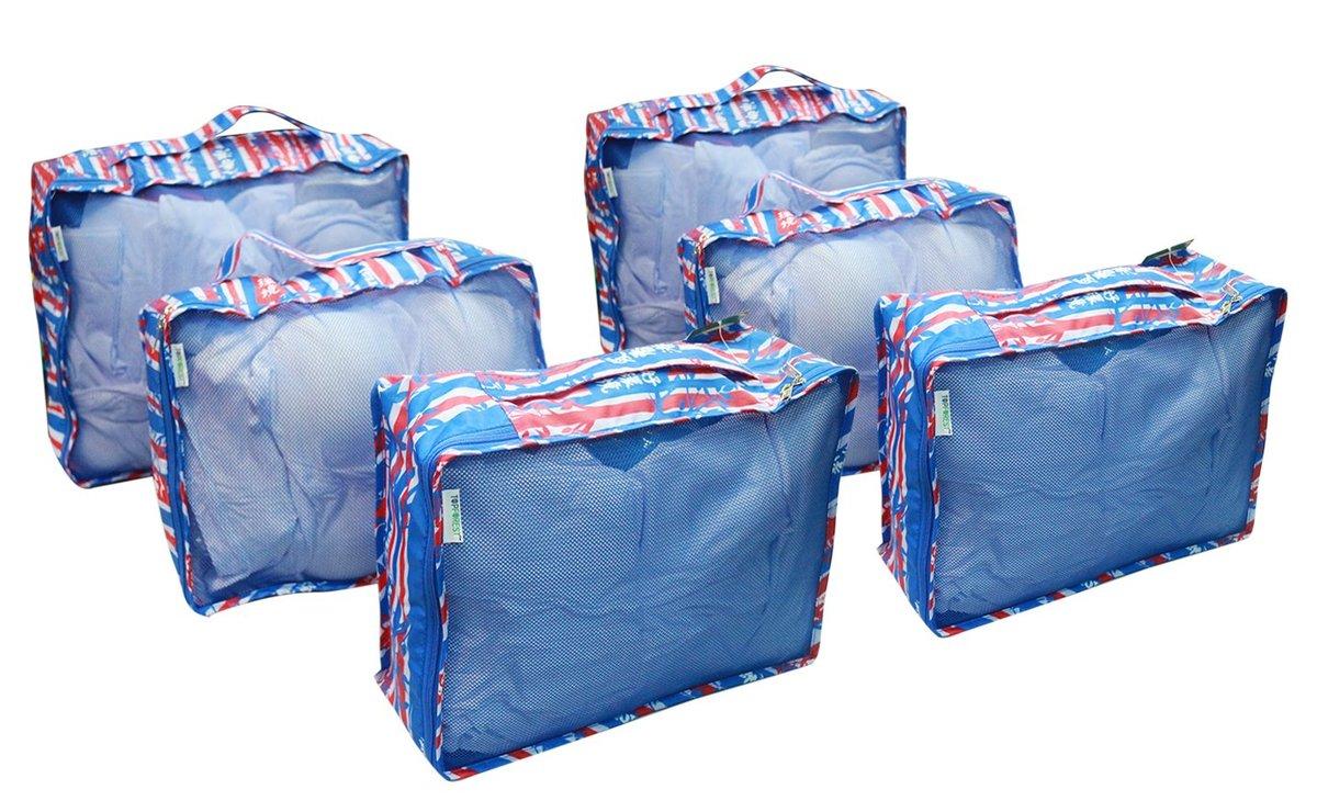多用途旅行收納袋兩套(6件)  A19019