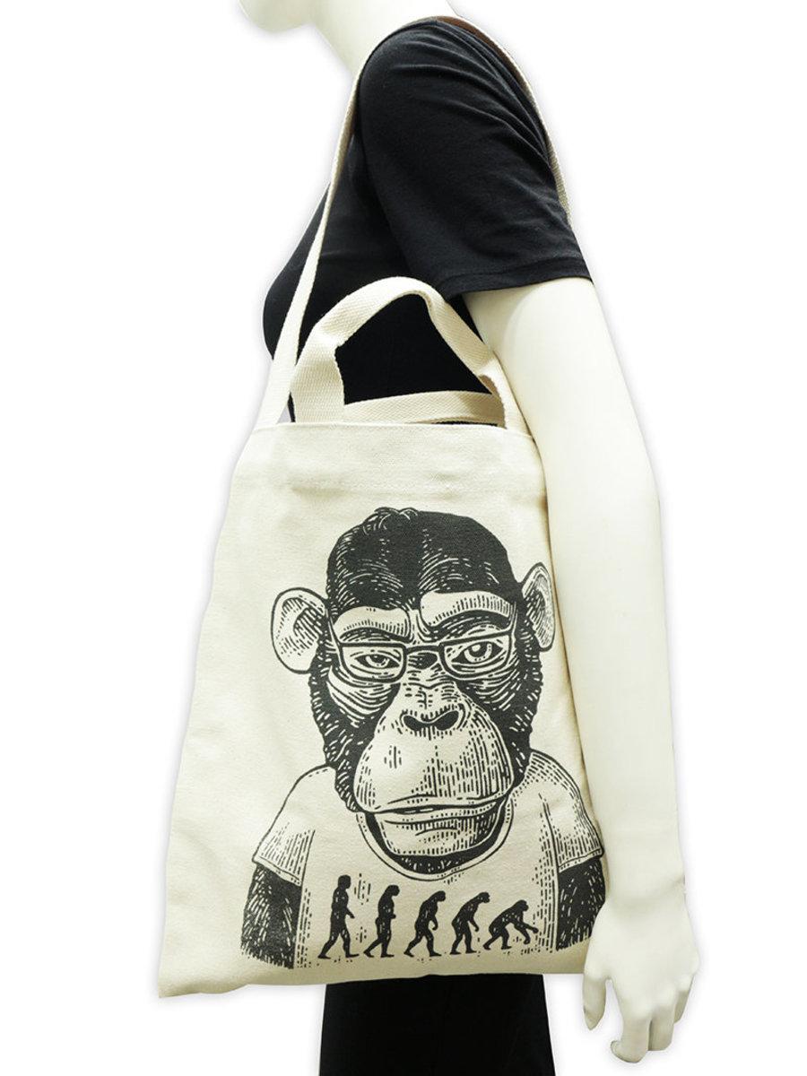 潮猿人純棉帆布兩用袋 B01037