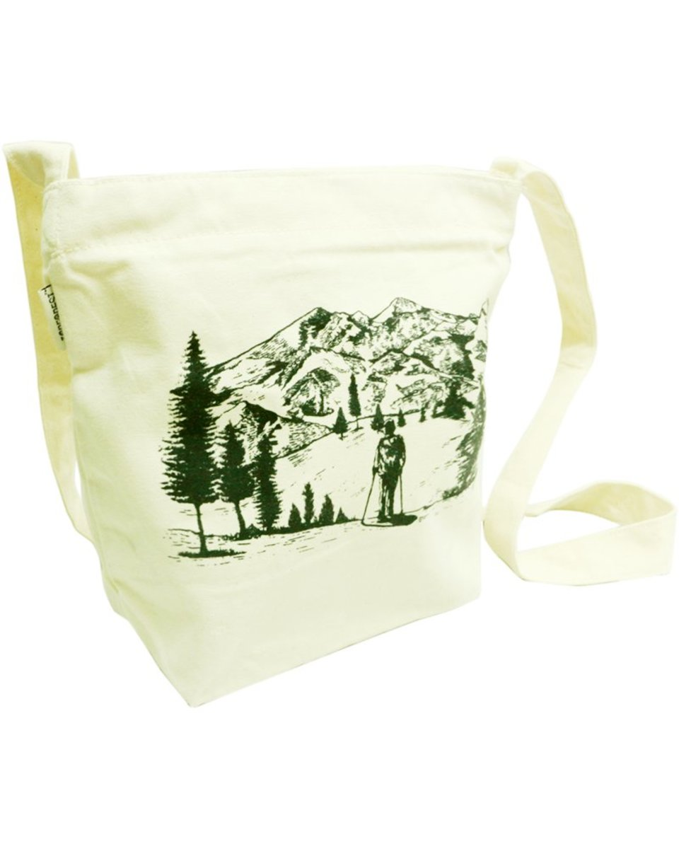 旅行家棉帆布環保購物側/斜揹袋 B02037
