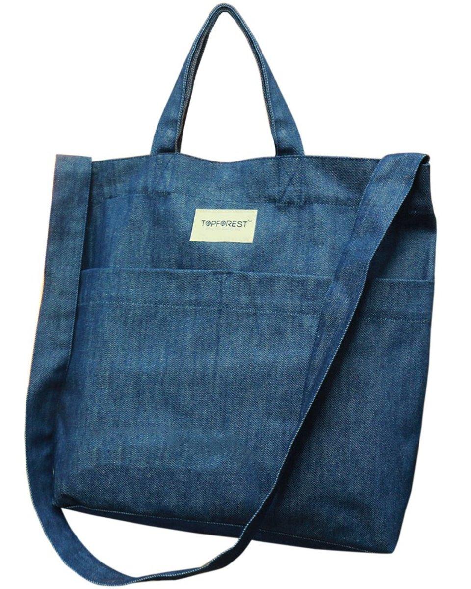 牛仔布環保兩用購物袋 母親節禮物 B05017