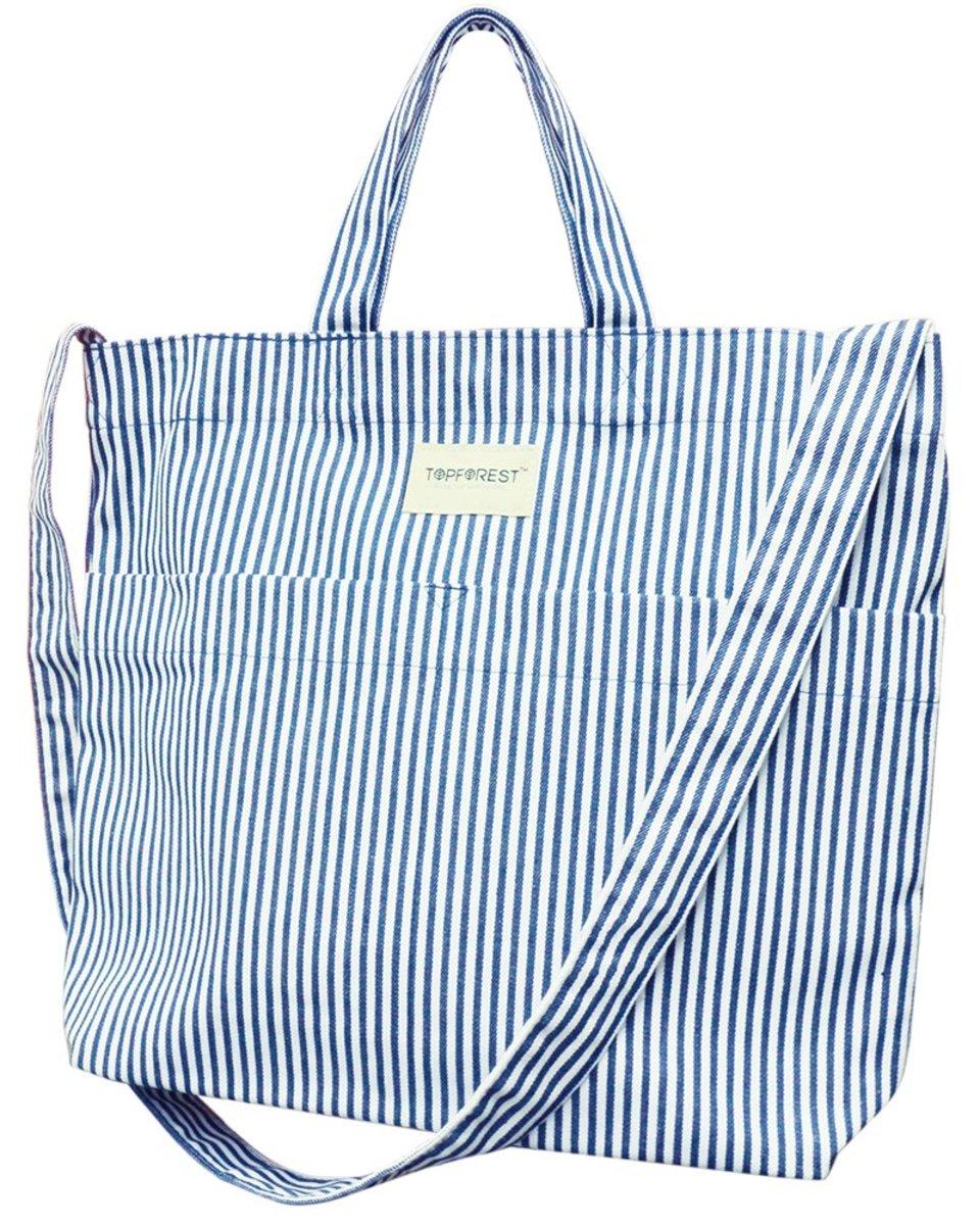 2WAY Denim Crossbody Shoulder Tote Bag B05027