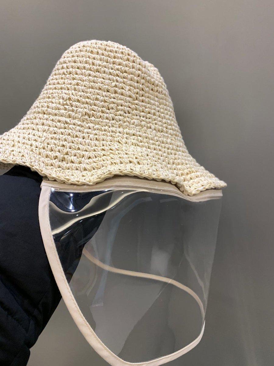 防疫帽 防飛沫protection hat(織紋, lighter white , 可拆除款)韓國製, made in korea
