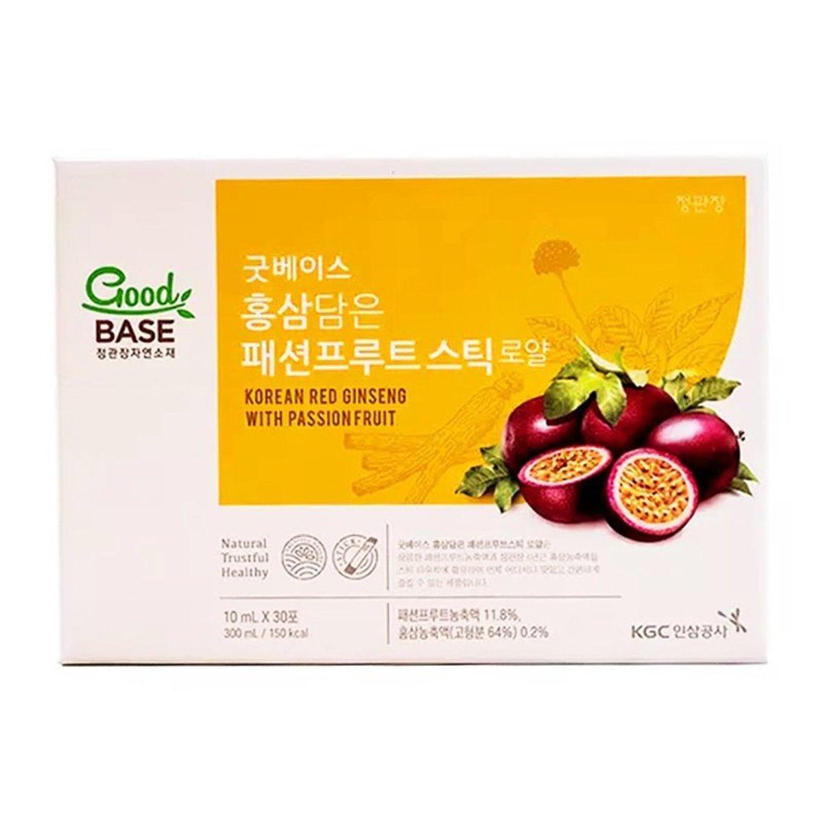正官庄 Goodbase Korean Red Ginseng with Passion Fruit (一盒30包*10ml) good base [parallel product]