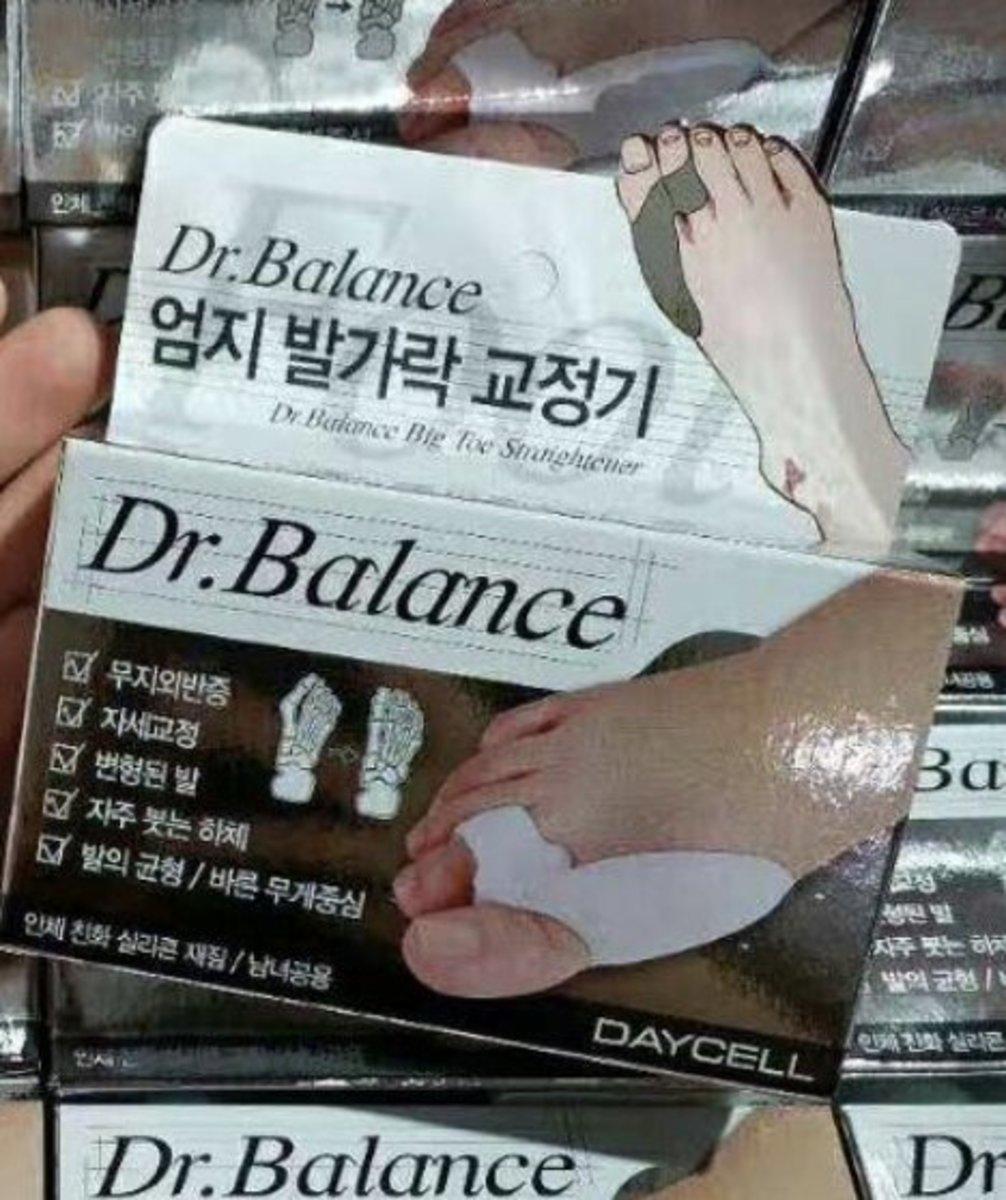 (2pcs)Dr.Balance韓國拇指外翻矯正器