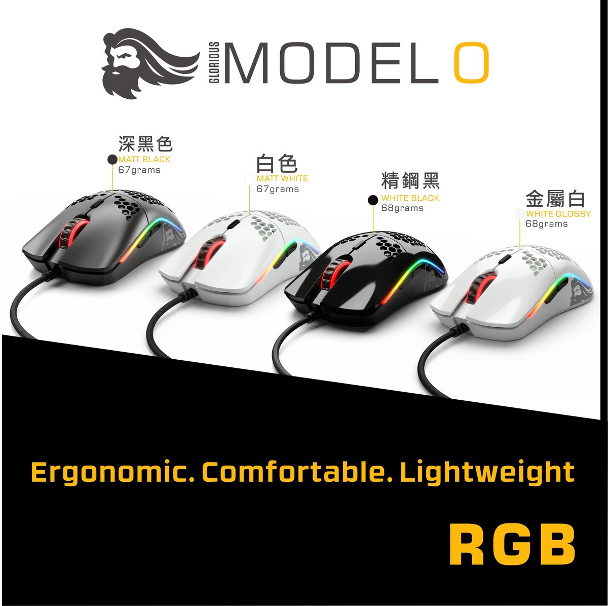 Model O Mouse Regular (Black)