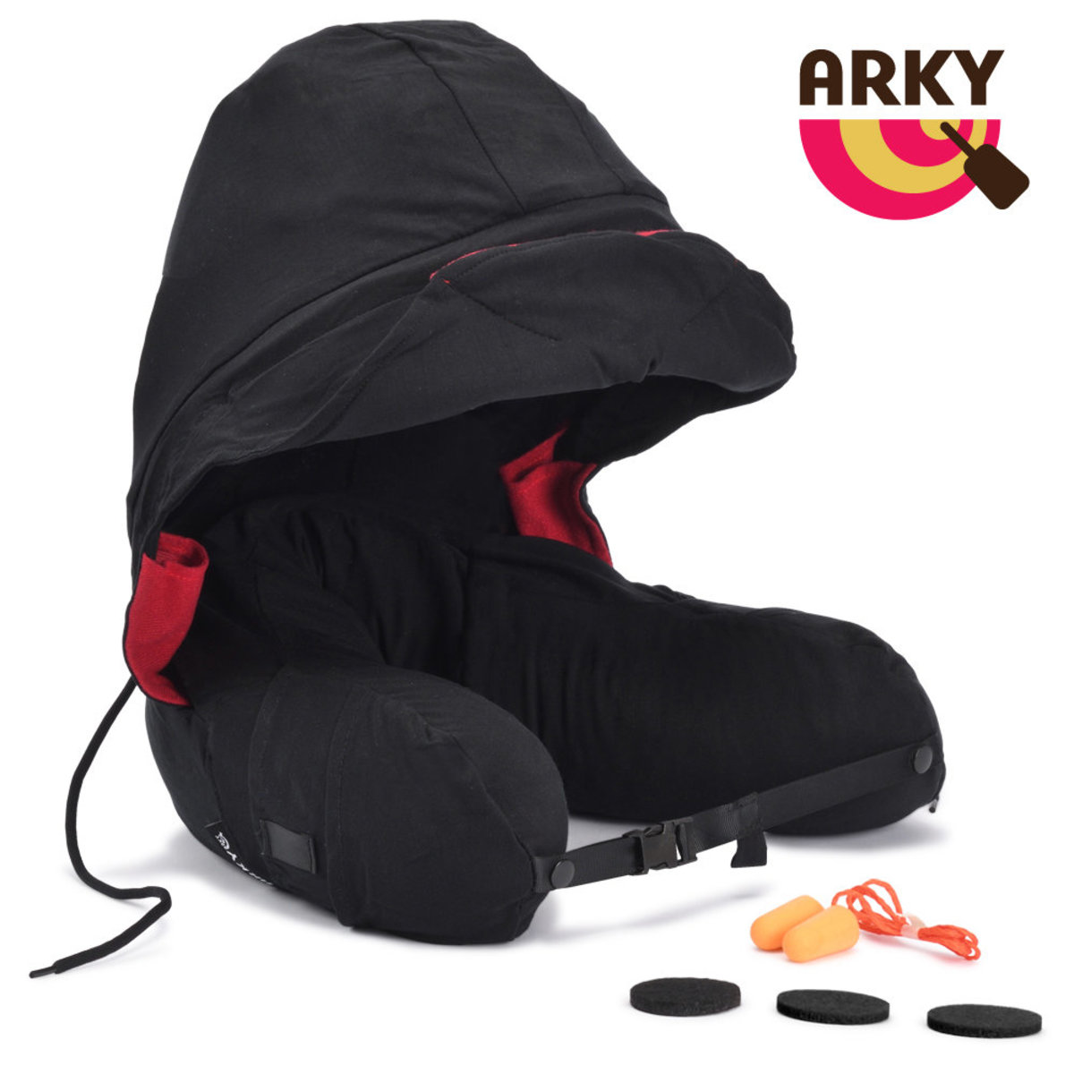 ARKY Somnus Travel Pillow 咕咕旅行枕-乳膠顆粒版-紐西蘭黑