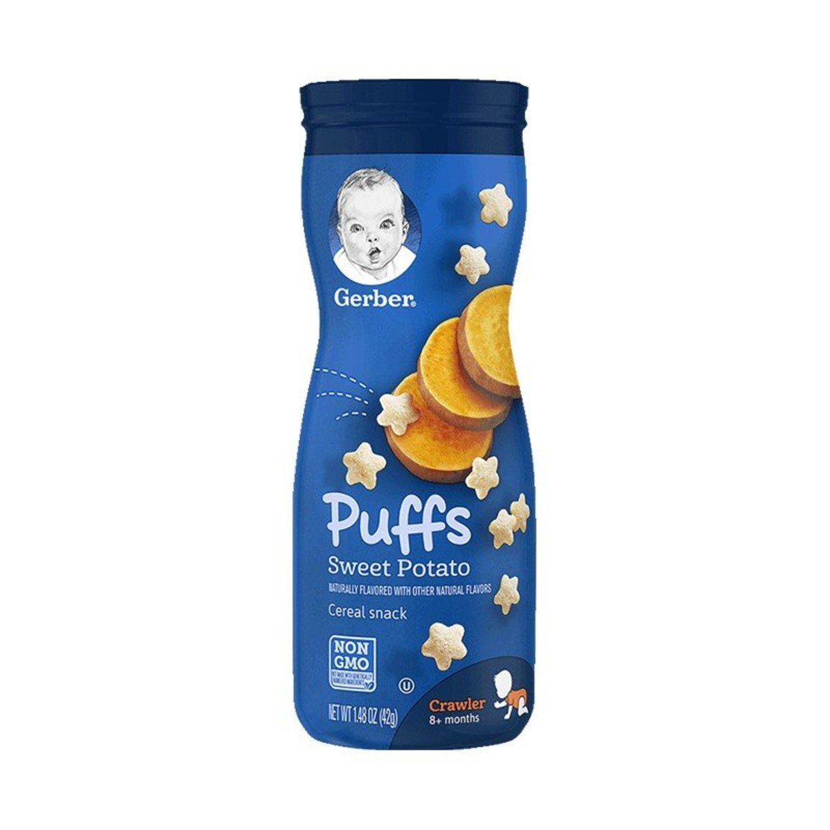 Sweet Potato Puffs Cereal Snack 42g(8+months)(parallel import)