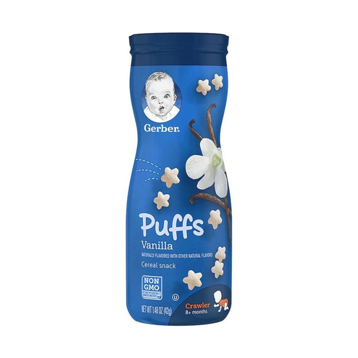 Vanilia Puffs Cereal Snack 42g(8+months)(parallel import)