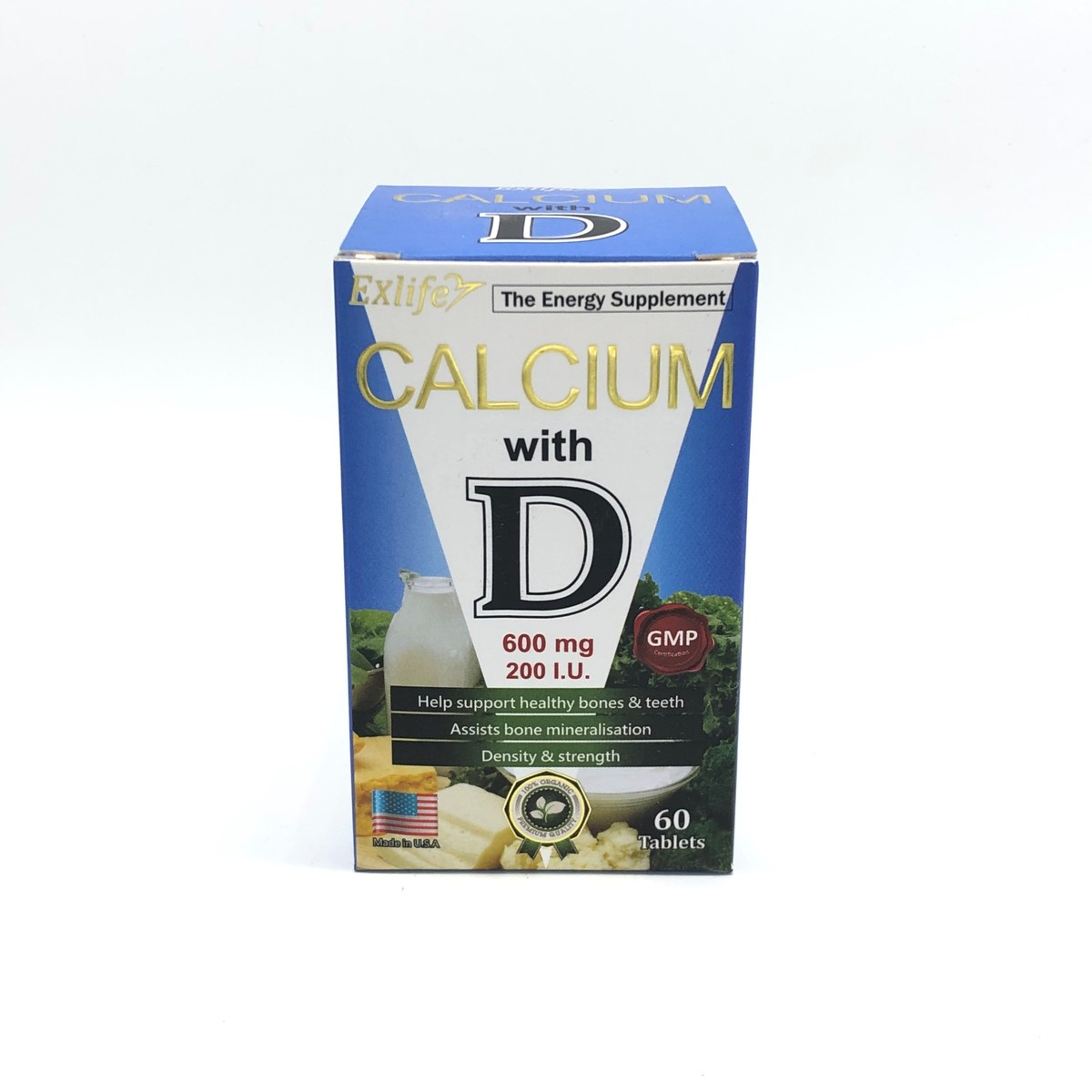 鈣+維他命D 600mg 60粒