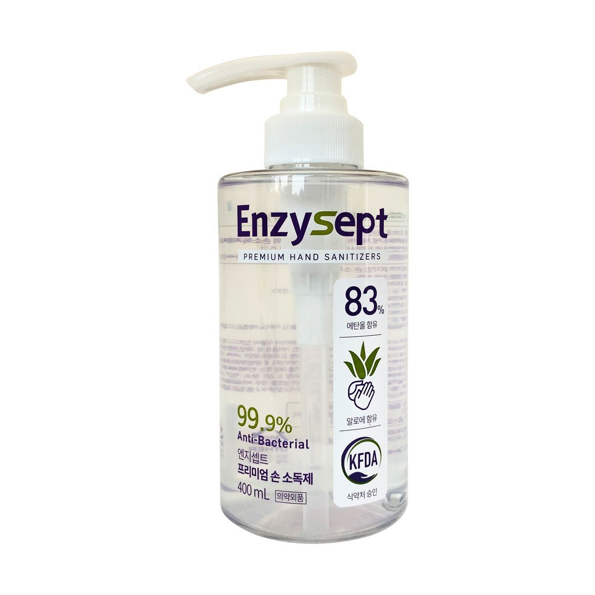 Enzysept 免沖洗酒精(83%)搓手液 (含蘆薈成份) 400ml
